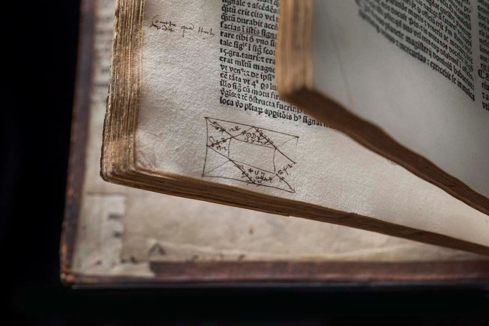 Lost Library of John Dee - Ptolemy - Quadriparti, 1519, horoscope -  copyright RCP and John Chase 800px