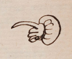 Lost Library of John Dee Quintillian - Institutionum oratoriarum, 1540, manicule copyright  RCP and Mike Fear800 px