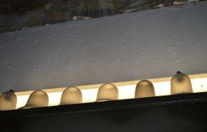 Old glass lamp shades  PHOTO Sandra Lawrence