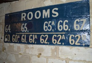 Room numbers referred to the rooms above  PHOTO Sandra Lawrence