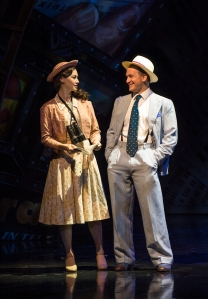 Siubhan Harrison (Sarah Brown) and Jamie Parker (Sky Masterson) in Guys and Dolls - photo by Paul Coltas