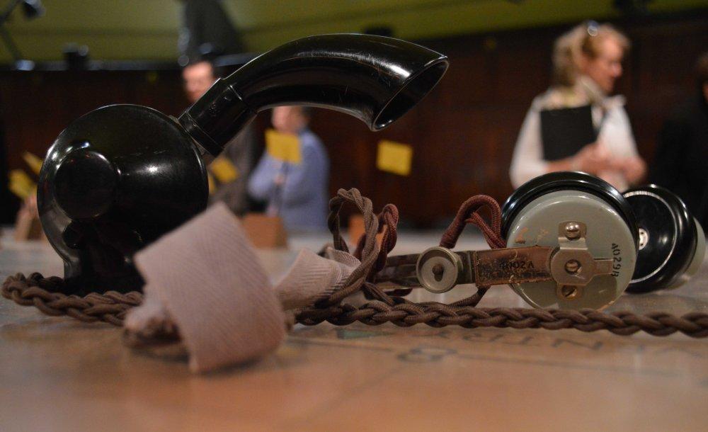 An operator's headset PHOTO SANDRA LAWRENCE