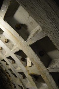 Part of the original tunnel ribcage